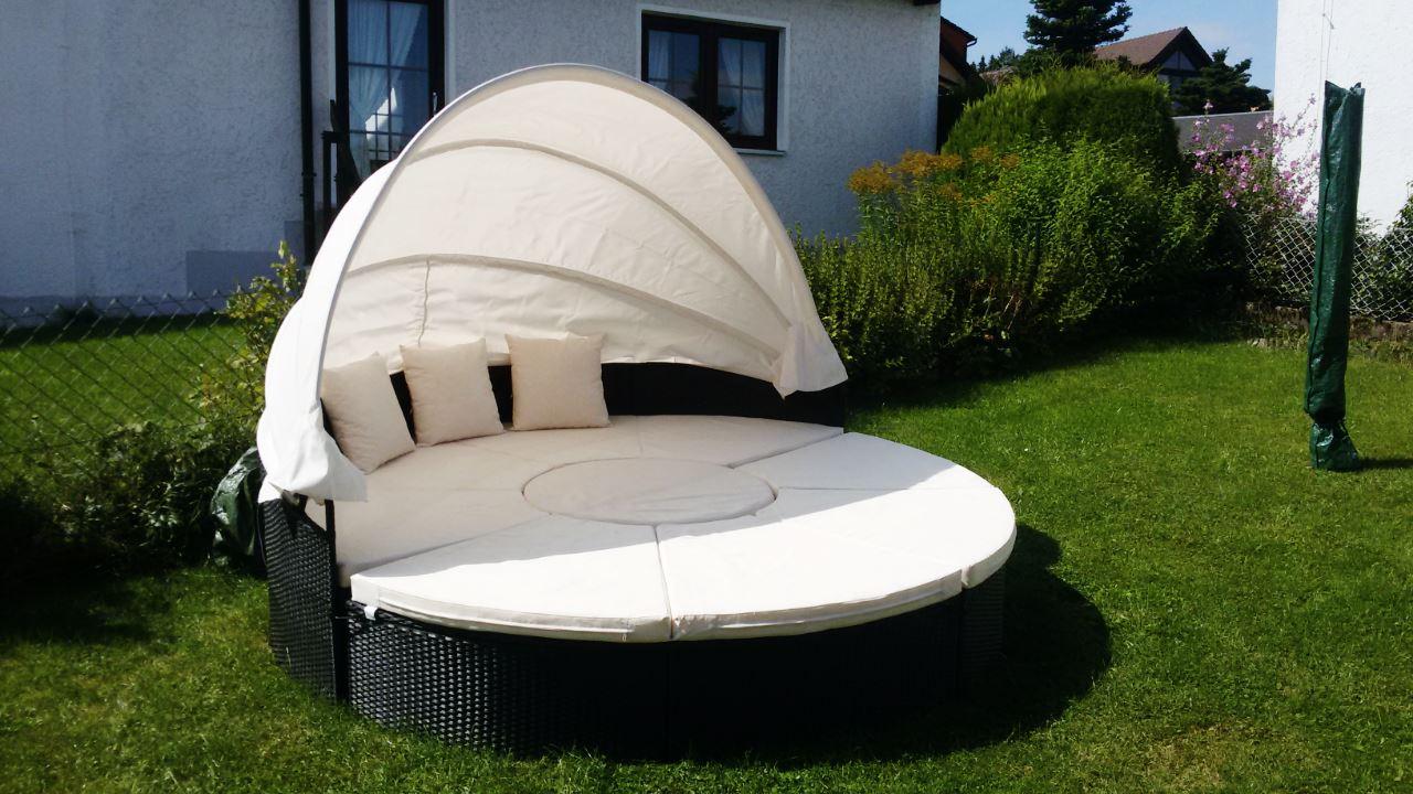 Sonneninsel aus Polyrattan ein günstiges Gartenmöbel