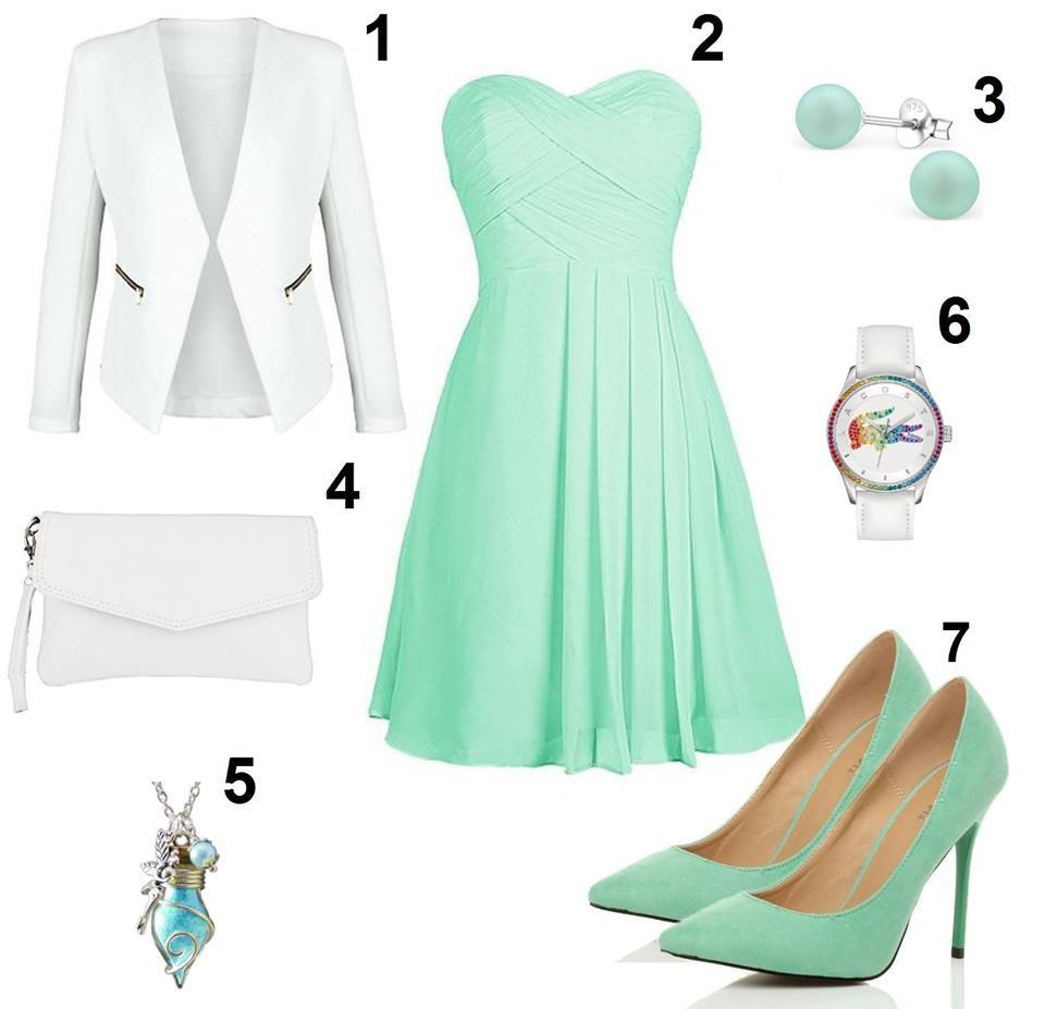 Mintgrünes Kleid kombinieren
